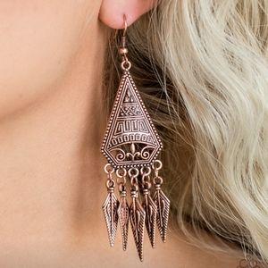 """Me Oh Mayan"" - Copper Earrings"